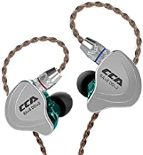 CCA C10 in Ear Monitor Headphone 10 Hybrid Drivers Wired Earbud 4BA 1DD HiFi IEM Earphones Stereo Noise Isolating Earphone with Detachable Cable for Musicians Singers Studio Audiophiles Dj PC