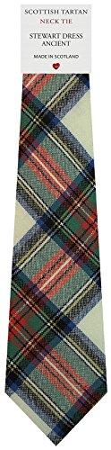 I Luv Ltd Cravate en Laine pour Homme Tissée et Fabriquée en Ecosse à Stewart Dress Ancient Tartan