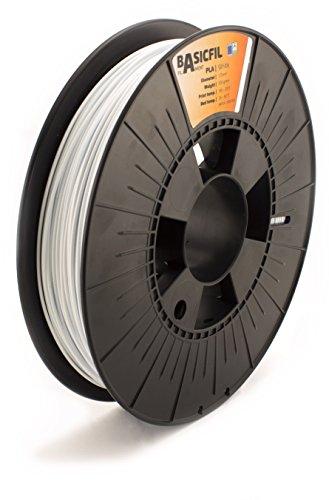 Basicfil PLA 1.75mm, 500 gr filament pour imprimate 3D, Blanc Signal