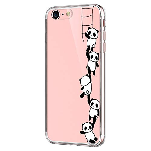 "Pacyer® iPhone 6/6s Custodia Panda TPU case Gel Protettivo Skin Shell Case Cover Per Apple iPhone 6 6s (4,7"") (4)"