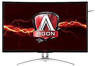 AOC Agon AG322QCX 31.5in Curved Frameless Gaming Monitor, QHD 2560x1440 VA Panel, FreeSync, 144Hz, 4ms, DisplayPort/HDMI, ...