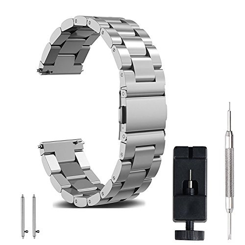FashionAids Cinturino 22mm 20mm 18mm, Cinturino per Samsung Gear S2 Classic/Samsung Galaxy Watch 42MM, 20mm
