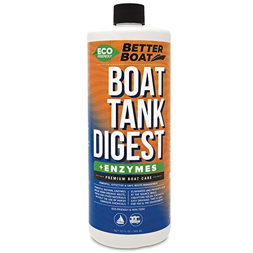 Portable Toilet Cleaner and Digester Smell and Enzymatic Tank Treatment Boat Marine and RV