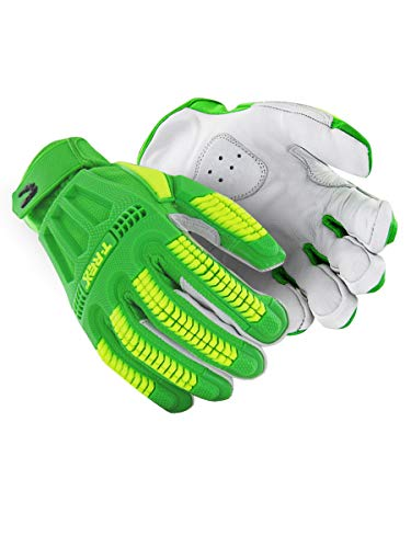 MAGID TRX743 Windstorm Series Impact Gloves | ANSI A6 Cut Resistant Hi-Viz Safety Work Gloves with Cool Mesh Venting, Green/Yellow, Size 9/L (1 Pair)