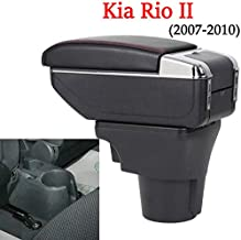 JEYODA for Kia Rio II 2007-2010 Armrest Box Car Central Armrests Dual-Layered Storage Box Cup Holder with 7 USB Port