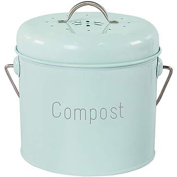 Cubo para Compost de 5 Litros con Revestimiento de Plástico y ...