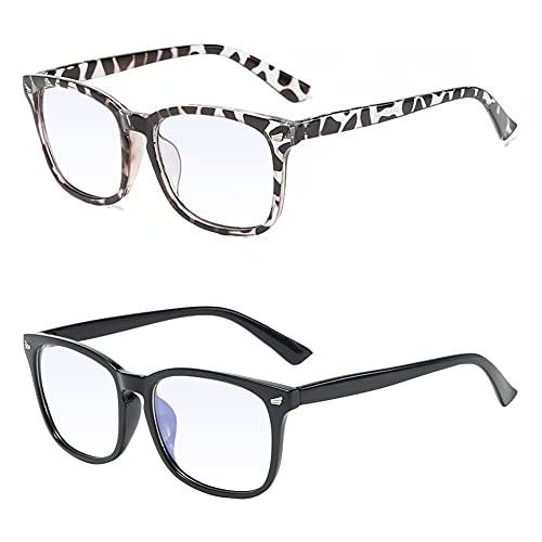 Gafas de luz azul, Gafas de bloqueo de luz azul, Gafas de lectura, Gafas de filtro azul, gafas de radiación que pueden filtrar la luz azul para aliviar la fatiga ocular, unisex - 2 piezas