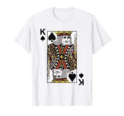 King of Spades Tshirt Blackjack Cards Poker 21 K Tee shirt