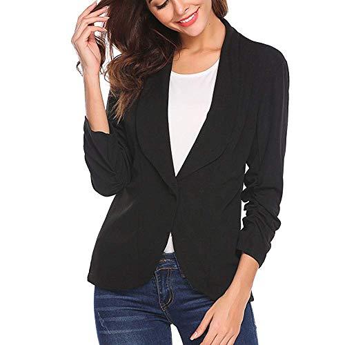 Dames Blazer Taille Korte 3 Elegante 4 Langere Moderne Casual Slanke Zakelijke Zakelijke Jas Pak Casual Korte Blazer Jas Outwear