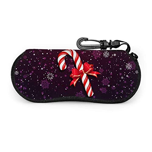 GOSMAO Funda Gafas Varita mágica de Navidad Neopreno Estuche Ligero con Cremallera Suave Gafas Almacenaje