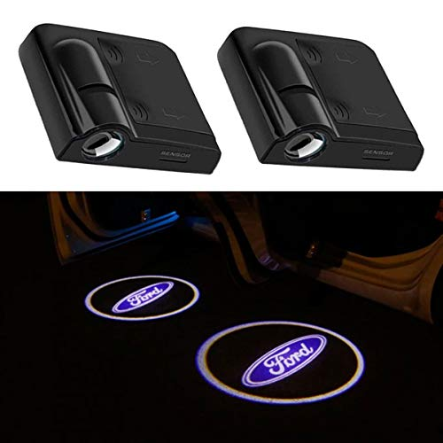 2Pcs for Ford Car Door Logo Projector Lights, Led Welcome Laser Door Lights Logo, No Damage Wireless Type Projector Car Door Lights for Ford Fiesta,Focus,C-Max,KA,Kuga,S-Max & Mondeo