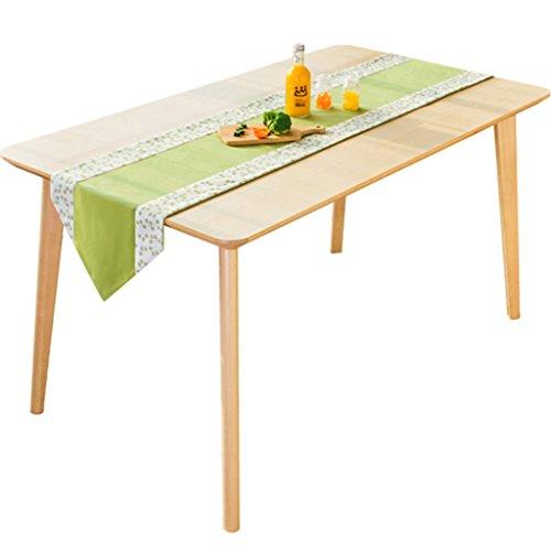 I will take action now Moderner Couchtisch mit langen Tischdecken, handgefertigter Stoff, Spitzenakzente machen ihn geeignet für Hochzeits-Party-Dekoration, 35 x 150 cm