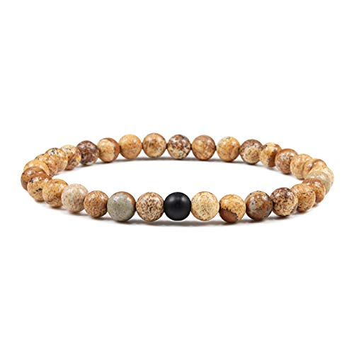 Stone bead bracelet Buddha Bracelet 10mm Natural Stone Beaded Bracelet Bangles for Men Women Reiki Rosary Elastic Rope Vintage Prayer Yoga Jewelry Fashion casual