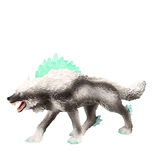 Snow Wolf Lifelike Werewolf Model Toy High Simulation Animal Shape Decoration Girls Boys Gift - Wolf Toy Figurines Wolf Animals Figures for Kids Wolf Toy Playset Cake Toppers Decoration (Multicolor-1)