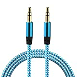 ICALL Presenting Braided Metal Aux Audio Cable with 3.5mm Male to Male High