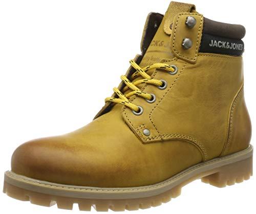 JACK & JONES Jfwstatton Leather, Botas Clasicas para Hombre, Amarillo (Honey Honey), 43 EU
