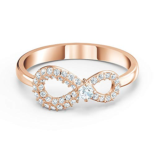Swarovski Anillo para mujer Infinity Ring de metal, cristal Swarovski 55, oro rosa 32012320