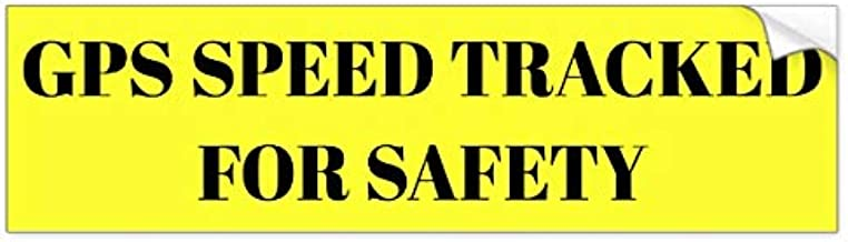 Yilooom Auto Decal Bumper Sticker for Cars, Trucks - GPS Speed Tracked for Safety Sticker