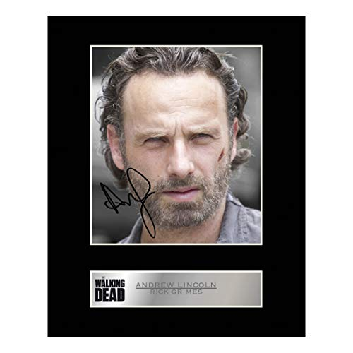 Andrew Lincoln, Rick Grimes Signiert Foto Display The Walking Dead # 1