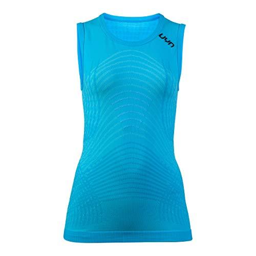 UYN Motyon - Camiseta Interior térmica Ligera de Primera Capa para Mujer, sin Mangas, Mujer, U100083, Aquarius/Anthracite, Small/Medium