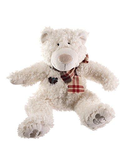 HUNTER BYRON BÄR Hundespielzeug, weicher Plüsch-Teddybär, zum Kuscheln und Spielen, 33 cm, weiß