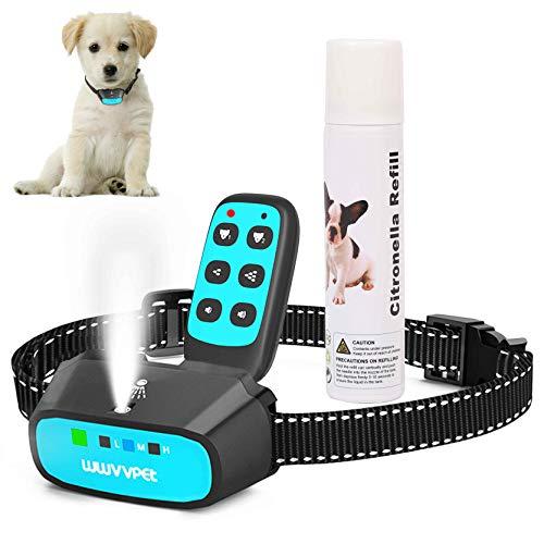 Trainingshalsband voor honden met citronella-spray met afstandsbediening, Bellenhalsband voor honden van citroella, 2 modi, schokbestendig.
