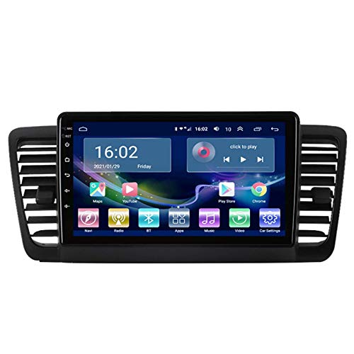 Coche estéreo GPS para coche Subaru Legacy 2004-2009 estéreo Sat Nav capacitiva táctil HD Carplay Radio Multimedia sistema de radio incorporado Tracker, 8Core 4G+WiFi: 4+64G