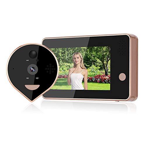Visor de mirilla Timbre de video inteligente 4.3 pulgadas Pantalla colorida Visor de puerta WIFI Sistema de seguridad para el hogar de gran angular de 120 grados con función de visión nocturna