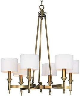 Maxim Lighting Fairmont Natural Aged Brass 6-Light Chandelier 22375OMNAB