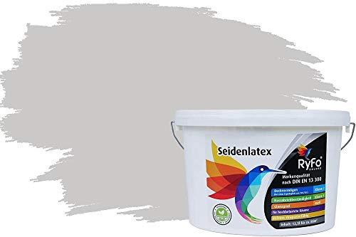 RyFo Colors Seidenlatex Trend Grautöne Hellgrau 12,5l - bunte Innenfarbe, weitere Grau Farbtöne und Größen erhältlich