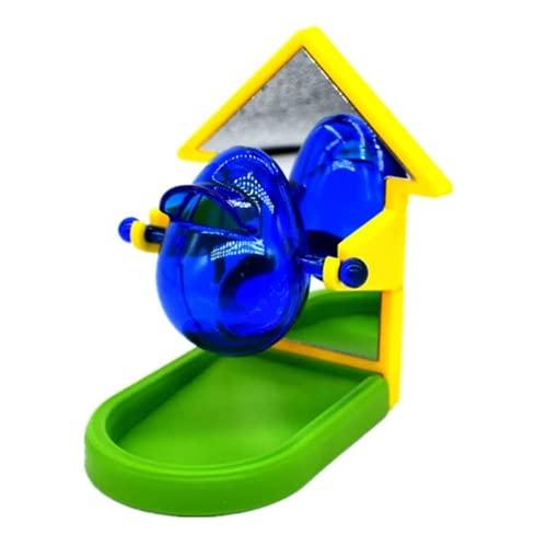 TOMMYFIELD インコ オウム 小鳥 餌入れ おもちゃ 鏡 玩具 鳥 給餌器 ミラー ハウス