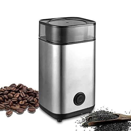 Młynek do kawy z ostrzem ze stali nierdzewnej 304 i systemem bezpieczeństwa, do przypraw, ziół, orzechów, zbóż, młynków do ziarna