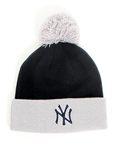 New York NY Yankees MLB Navy / Gris Team Crown New Era Bobble Chapeau Taille Unique