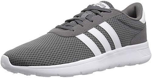 adidas Men's Lite Racer Running Shoe, Grey Four/White/Grey Four, 10 M US