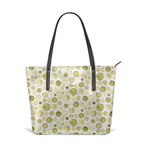 XGBags Custom Olivgrünes Aquarell Abstrakte Flecken Tropfen D.ots Chartreuse Yellow Fashion Handtaschen Umhängetasche