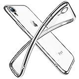 iPhone XR ケース クリア 透明 tpu シリコン メッキ加工 スリム 薄型 6.1インチ スマホケース 耐衝撃 黄変防止 一体型 人気 携帯カバー シルバー