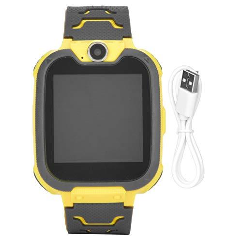 Pwshymi Reloj Inteligente de posicionamiento para niños, Reloj multifunción para teléfono para niños, Juguetes para niños, Regalo, Reducir el estrés por presión(Yellow)