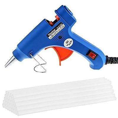 Vastar Hot Glue Gun and 30 Pieces Melt Glue Sticks 20 Watt Melting Adhesive Glue Gun Kit for DIY Small Craft and Quick Repairs in Home & Office...