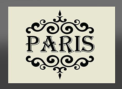 Plantilla de 'Paris' de material Mylar, A1 841mm x 594mm, decorativo para pintar con spry en muebles...