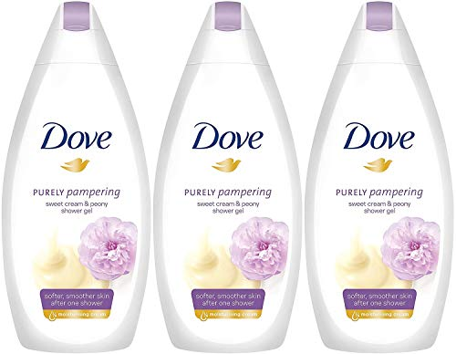 Dove Purely Pampering Sweet Cream with Peony Body Wash, 16.9 Ounce / 500 Ml (Pack of 3)