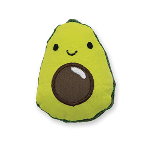 Petstages Lil\' Avocato - Juguete con Malla Dental para Gatos - con Hierba gatera - Verde - Tamaño único