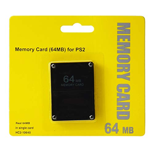 PS2 MEMORY CARD 64MB NERA PLAYSTATION 2 PSTWO PLAYSTATION 2