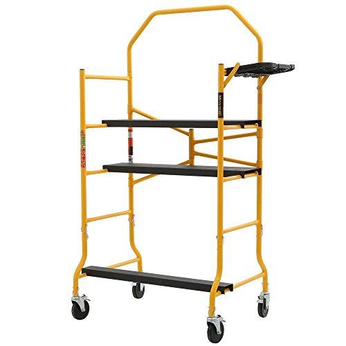 Metaltech IMIS Job Site Series 6-3/8 4 x 2-1/2 ft. Scaffold 900 lb. Load Capacity