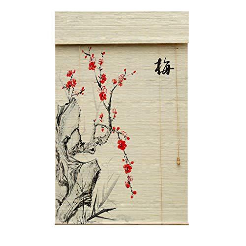 Roller blind Lxn Persianas enrollables de bambú Impresas, persianas O