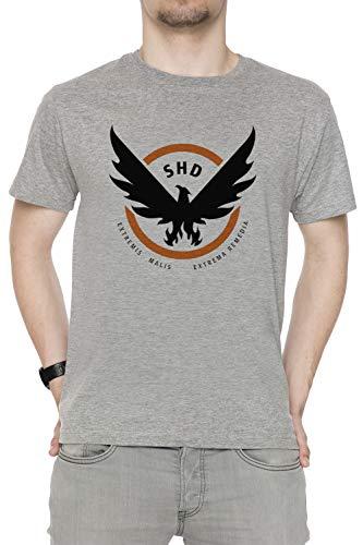 Erido The Division Homme T-Shirt Cou D'équipage Gris Manches Courtes Taille XXL Men's Grey T-Shirt XX-Large Size XXL