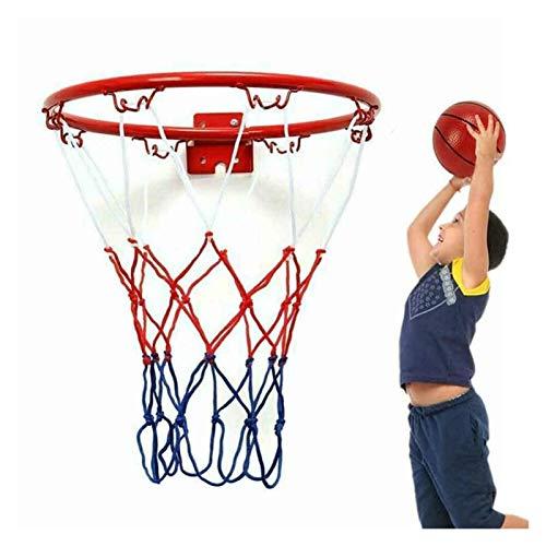 Changskj Indoor-Basketballkorb Kinder Kinder 32cm Edelstahl Basketball Ring Korb-Netz mit Schrauben montiert Goal Hoop Rim Net (Color : 25 cm)