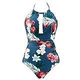 Mujer,Cintura Alta Bikinis para Mujer Bikini de Mujer 2019 Push-Up/Ropa de Verano/Estampado de cocotero en Traje de Baño de Tubo/Brasileños Bañador Ropa de Dos Piezas/Parte Inferior