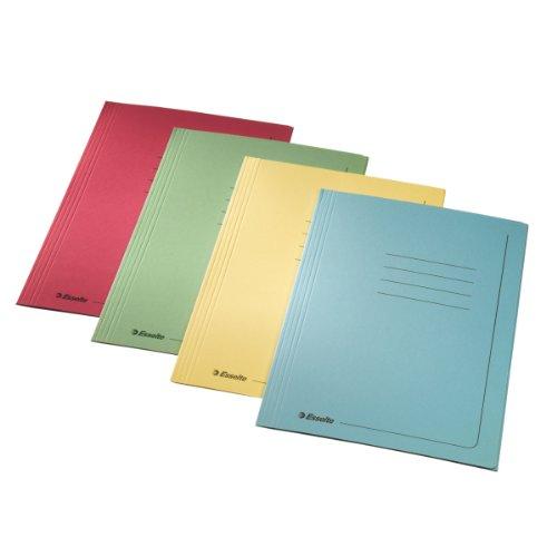 ESSELTE Cartelle MANILLA 3 lembi - f.to 25 x 35 cm - Verde - Confezione da 25 pezzi -55136