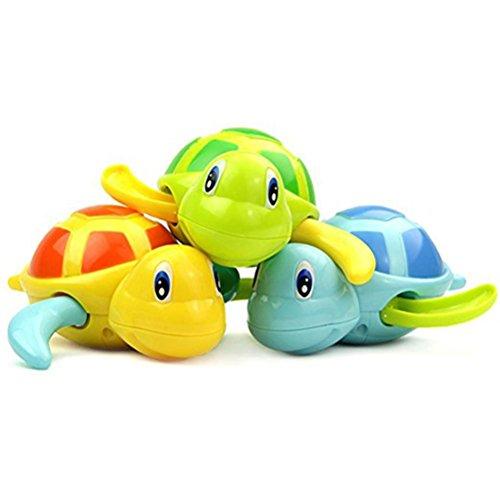 TOYMYTOY 3 Stück Baby Badespielzeug Schildkröte Kunststoff Badewanne Spielzeug
