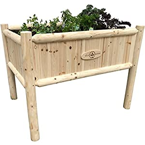 Wooden Raised Planter Box with Legs